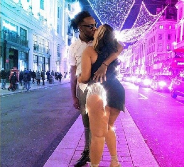Burna Boy, Stefflon Don Share Passionate Kiss On Street Of London (Photo)