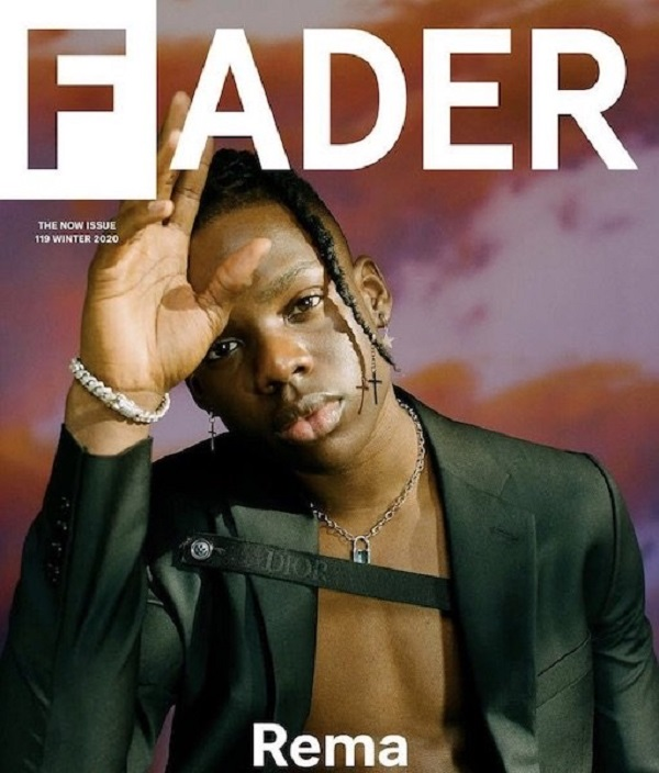 """Rema Used As The """"Fader Magazine"""" Cover For 2019"""